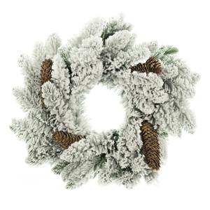 Vianočný veniec DecoKing Anne Snieg Szyszka