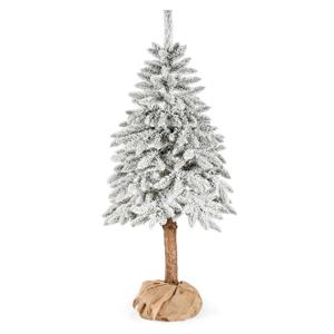 Umelý vianočný stromček DecoKing Cecilia white on a stump, 1,5 m