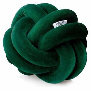 Zelený dekoratívny vankúš AmeliaHome Nancy Knot Grey