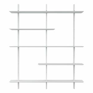 Biely policový diel Tenzo Bridge, šírka 162 cm
