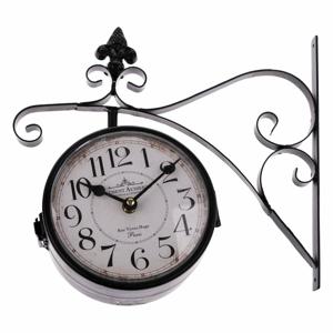 Čierne obojstranné závesné hodiny Dakls, dĺžka 31 cm