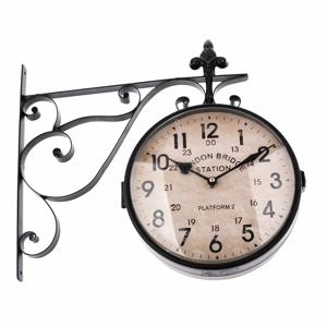 Čierne obojstranné závesné hodiny Dakls, dĺžka 41 cm