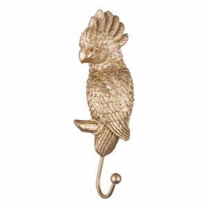 Vešiak v zlatej farbe Leitmotiv Kakadu