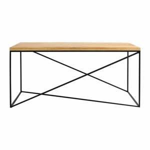 Konferenčný stolík v dekore dubového dreva Custom Form Memo, 100 x 60 cm