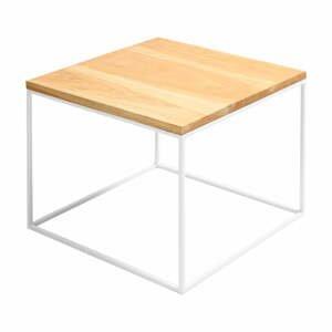 Konferenčný stolík s bielou konštrukciou Custom Form Tensio, 50 x 50 cm