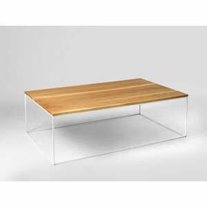 Konferenčný stolík s bielou konštrukciou Custom Form Tensio, 100 x 60 cm
