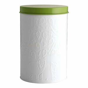 Bielo-zelená dóza na skladovanie potravín Mason Cash In the Forest,2,9l