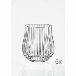 Súprava 6 pohárov na whisky Crystalex Tulipa Optic, 350 ml