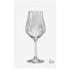 Súprava 6 pohárov na víno Crystalex Tulipa Optic, 350 ml