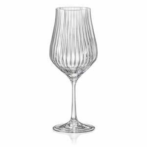Súprava 6 pohárov na víno Crystalex Tulipa Optic, 450 ml