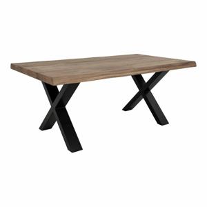 Konferenčný stolík s doskou z masívneho dubu House Nordic Toulon Smoked, 120 x 70 cm