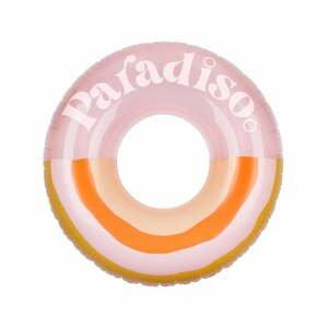 Ružovo-oranžový nafukovací kruh Sunnylife Paradiso