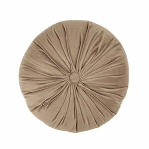 Hnedý zamatový dekoratívny vankúš Tiseco Home Studio Velvet, ø 38 cm