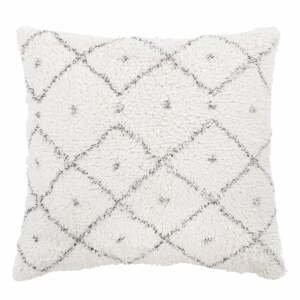 Bielo-sivý bavlnený dekoratívny vankúš Tiseco Home Studio Dots, 45 x 45 cm