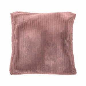 Ružový dekoratívny vankúš Tiseco Home Studio Ribbed, 40 x 40 cm