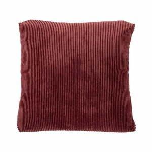 Červený dekoratívny vankúš Tiseco Home Studio Ribbed, 40 x 40 cm