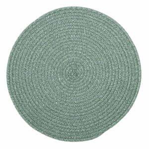 Zelené prestieranie s prímesou bavlny Tiseco Home Studio, ø 38 cm