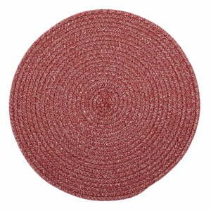 Ružové prestieranie s prímesou bavlny Tiseco Home Studio, ø 38 cm