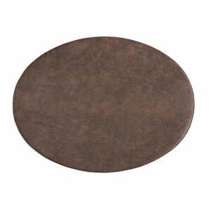 Tmavohnedé prestieranie z imitácie kože ZicZac Troja, 33 x 45 cm