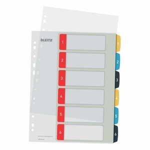 Numerický register so 6 štítkami Leitz, A4