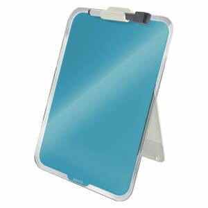 Modrý sklenený flipchart na stôl Leitz Cosy, 22 x 30 cm