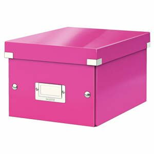 Ružová úložná škatuľa Leitz Universal, dĺžka 28 cm