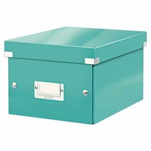 Tyrkysovozelená úložná škatuľa Leitz Universal, dĺžka 28 cm