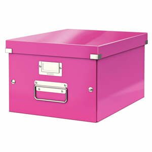 Ružová úložná škatuľa Leitz Universal, dĺžka 37 cm