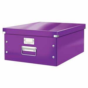 Fialová úložná škatuľa Leitz Universal, dĺžka 48 cm