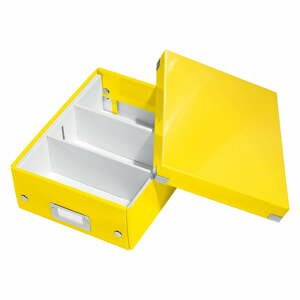 Žltá škatuľa s organizérom Leitz Office, dĺžka 28 cm