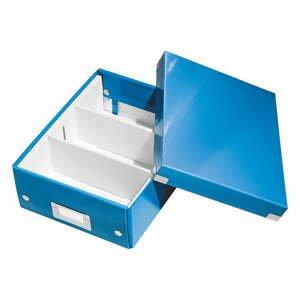 Modrá škatuľa s organizérom Leitz Office, dĺžka 28 cm