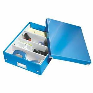 Modrá škatuľa s organizérom Leitz Office, dĺžka 37 cm