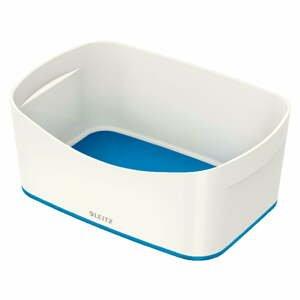 Bielo-modrá stolová škatuľa Leitz MyBox, dĺžka 24,5 cm