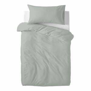 Sivé detské bavlnené obliečky Happy Friday Basic, 100 x 120 cm