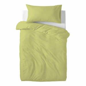Zelené detské bavlnené obliečky Happy Friday Basic, 115 x 145 cm