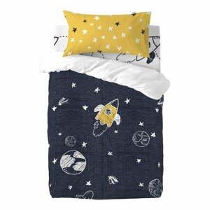 Detské bavlnené obliečky na jednolôžko Mr. Fox Starspace, 100 x 120 cm