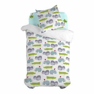 Detské bavlnené obliečky na jednolôžko Mr. Fox Hippo, 140 x 200 cm