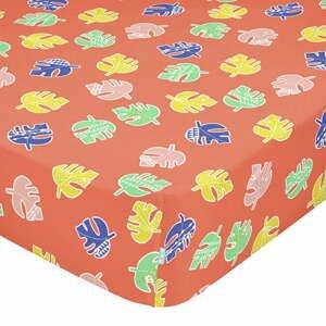 Detská bavlnená plachta Moshi Moshi Geo Jungle, 90 x 200 cm