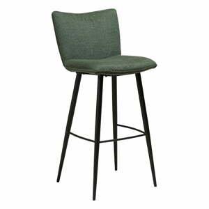 Zelená barová stolička s oceľovými nohami DAN-FORM Join, výška 103 cm