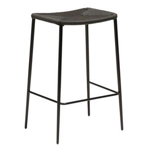 Čierna barová stolička s oceľovými nohami DAN-FORM Stiletto, výška 68 cm