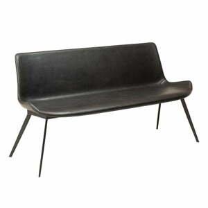 Čierna lavica z imitácie kože DAN-FORM Denmark Hype