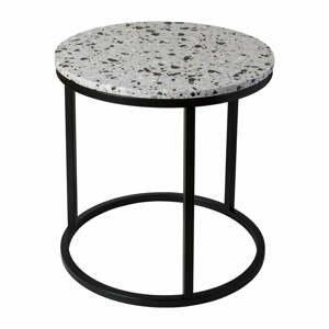 Konferenčný stolík s kamennou doskou RGE Cosmos, ø 50 cm