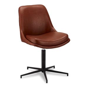 Otočná jedálenská stolička s poťahom z imitácie kože Furnhouse Claudia