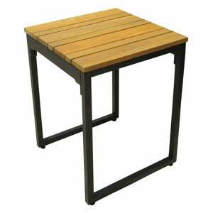 Súprava 2 záhradných stoličiek so sedákom z akáciového dreva Ezeis Brick