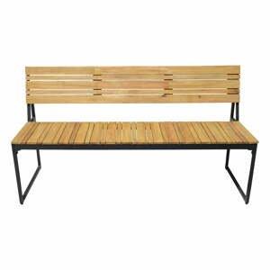 Záhradná lavica z akáciového dreva s kovovou konštrukciou Edeis Brick