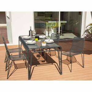 Súprava 4 záhradných stoličiek a stola Ezeis Ambroise
