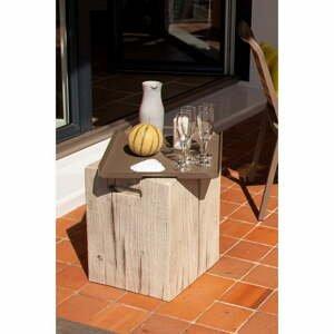 Biely záhradný odkladací stolík Ezeis Ecotop, 35 x 35 cm