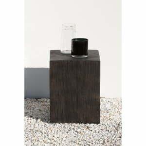 Sivý záhradný odkladací stolík Ezeis Ecotop, 35 x 35 cm