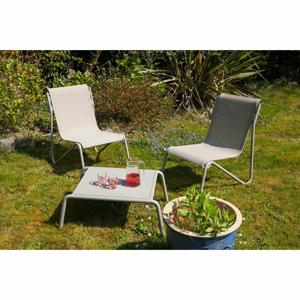 Súprava 2 záhradných kresiel a stolíka s hliníkovou konštrukciou Ezeis Montana