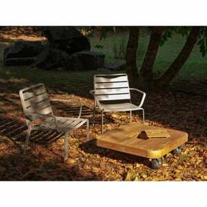 Súprava 2 záhradných kresiel a stolíka s doskou z tíkového dreva Ezeis Spring